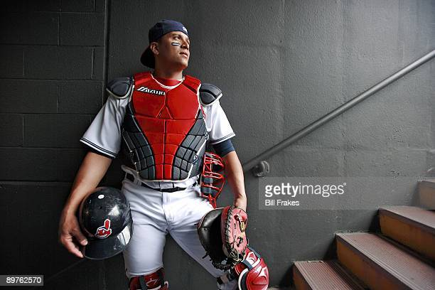 Portrait of Cleveland Indians catcher Victor Martinez at Jacobs Field Cleveland OH 6/28/2007 CREDIT Bill Frakes