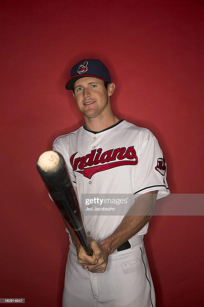 Portrait of Cleveland Indians center fielder Drew Stubbs (11) during spring training photo shoot at Player Development Complex. Jed Jacobsohn F44 )