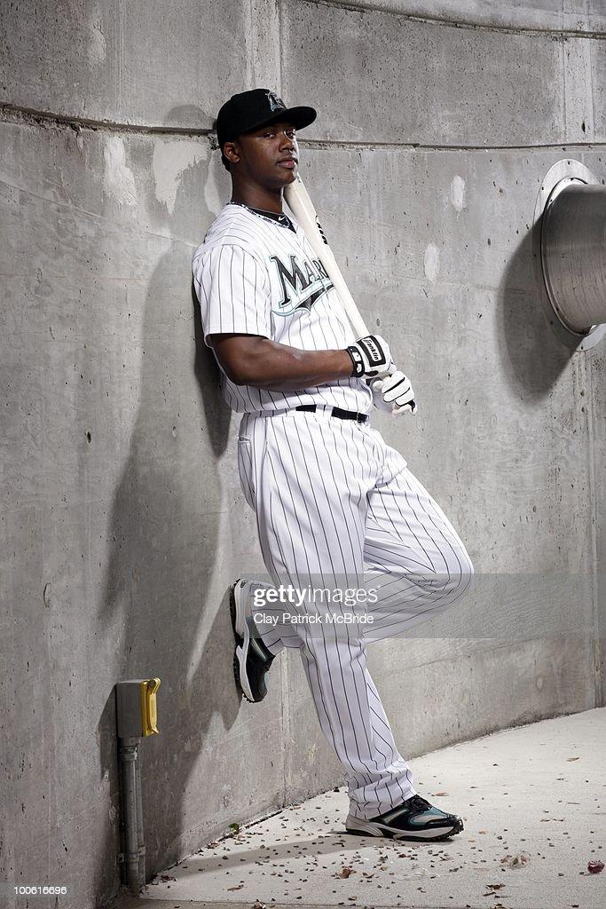 Portrait of Florida Marlins shortstop Hanley Ramirez (2) during photo shoot at Sun Life Stadium. Miami, FL 5/17/2010
