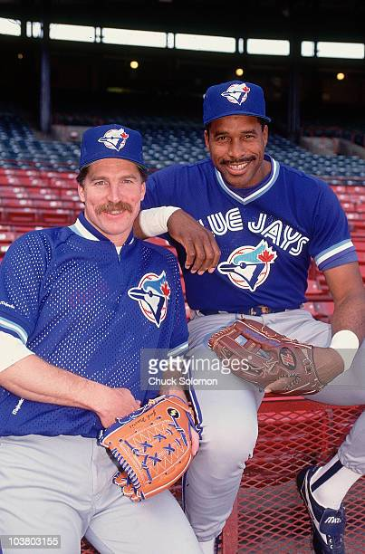 Portrait of Toronto Blue Jays Jack Morris and Dave Winfield during photo shoot before game at Milwaukee County Stadium Milwaukee WI 5/1/1992 CREDIT...