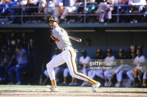 Baseball San Diego Padres Alan Wiggins in action vs Pittsburgh Pirates San Diego CA 4/5/1984