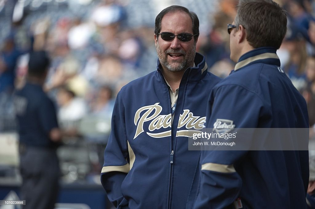 San Diego Padres lead owner Jeff Moorad before game vs Milwaukee Brewers. San Diego, CA 5/1/2010
