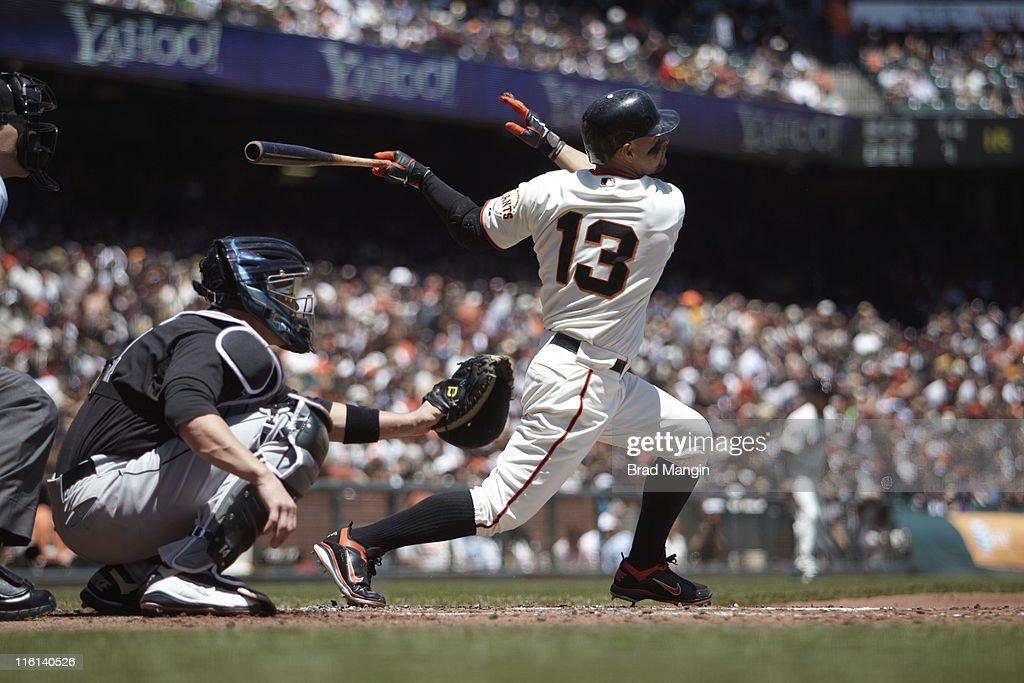 San Francisco Giants Cody Ross (13) in action, at bat vs Florida Marlins at AT&T Park. Brad Mangin F80 )
