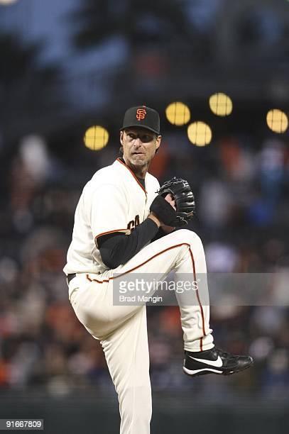 San Francisco Giants Randy Johnson in action, pitching vs Washington Nationals. San Francisco, CA 5/11/2009 CREDIT: Brad Mangin