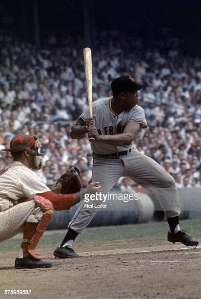 San Francisco Giants Willie Mays in action, at bat vs Philadelphia Phillies at Connie Mack Stadium. Philadelphia, PA 9/15/1960 CREDIT: Neil Leifer