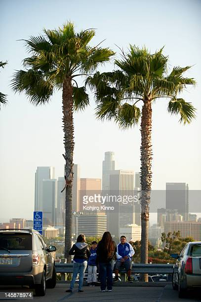 Scenic view of fans outside stadium before St Louis Cardinals vs Los Angeles Dodgers game at Dodger Stadium Los Angeles CA CREDIT Kohjiro Kinno