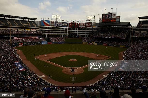 Scenic view of Rangers Ballpark at Arlington during Texas Rangers vs Seattle Mariners game. Arlington, TX 4/11/2010 CREDIT: Darren Carroll