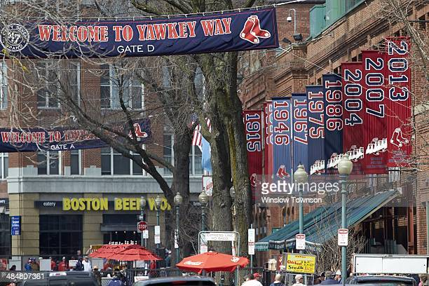 Scenic view of Yawkey Way Gate D before Boston Red Sox vs Texas Rangers game at Fenway Park Boston MA CREDIT Winslow Townson