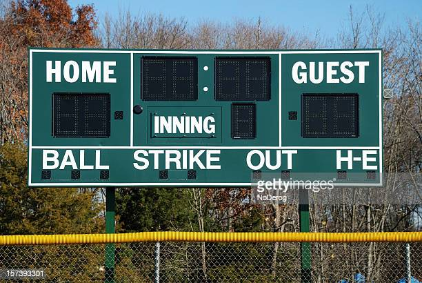 baseball scoreboard - scoring stock pictures, royalty-free photos & images