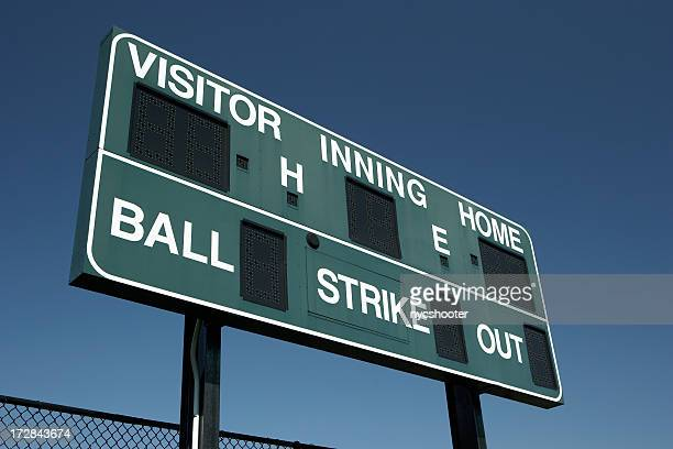 baseball scoreboard   (xxl) - scoreboard stock pictures, royalty-free photos & images