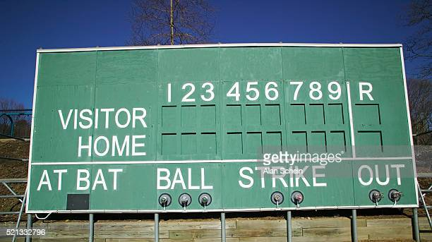 baseball scoreboard - scoreboard stock pictures, royalty-free photos & images