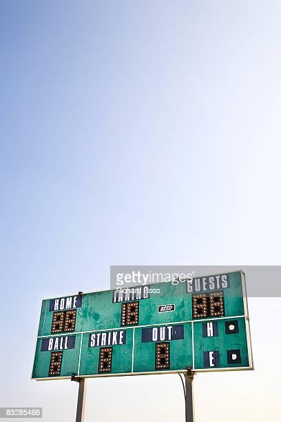 baseball scoreboard - scoring stock pictures, royalty-free photos & images
