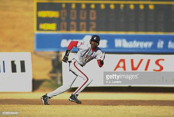 Scottsdale Scorpions Michael Jordan in action, running bases during game at Scottsdale Stadium. Scottsdale, AZ -- CREDIT: V.J. Lovero