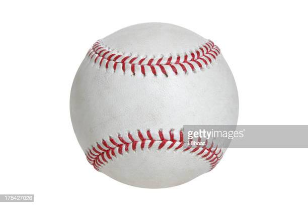 baseball & softball series (on white with clipping path) - baseballs stock photos and pictures