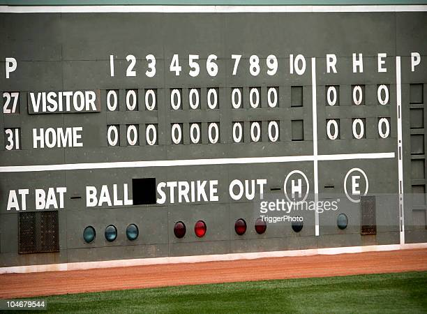 baseball sports scoreboard - scoreboard stock pictures, royalty-free photos & images