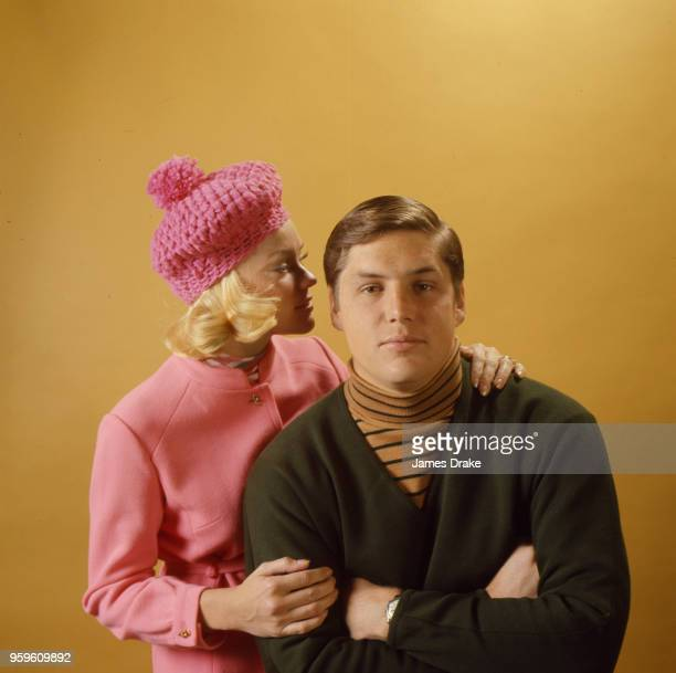 Sportsman of the Year Portrait of New York Mets pitcher Tom Seaver and his wife Nancy Seaver posing during photo shoot CREDIT James Drake