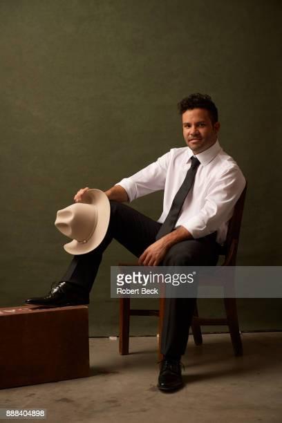 Sportsperson of the Year Portrait of Houston Astros Jose Altuve posing during photo shoot at NRG Stadium Houston TX CREDIT Robert Beck