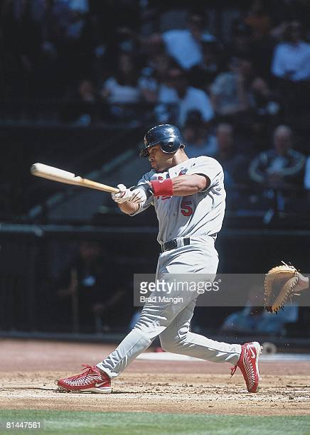 Baseball St Louis Cardinals Albert Pujols in action vs Arizona Diamondbacks Phoenix AZ 4/7/2001