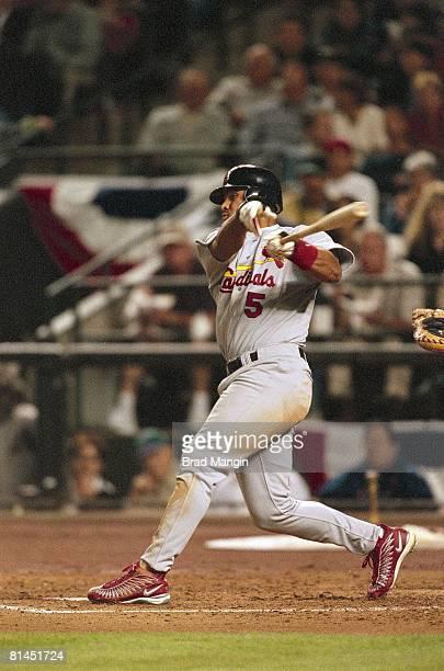 Baseball St Louis Cardinals Albert Pujols in action vs Arizona Diamondbacks Phoenix AZ 4/6/2001