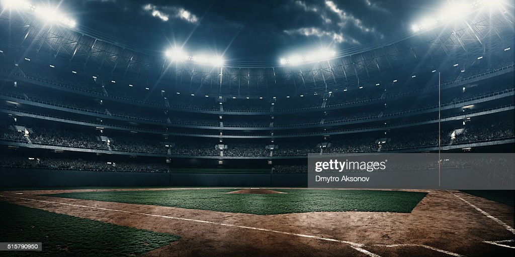 Estadio de béisbol : Foto de stock