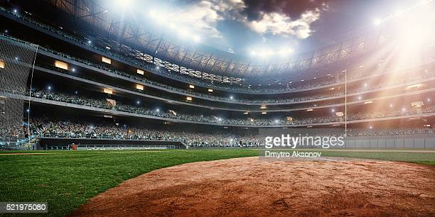 baseball stadium - baseball sport stock pictures, royalty-free photos & images