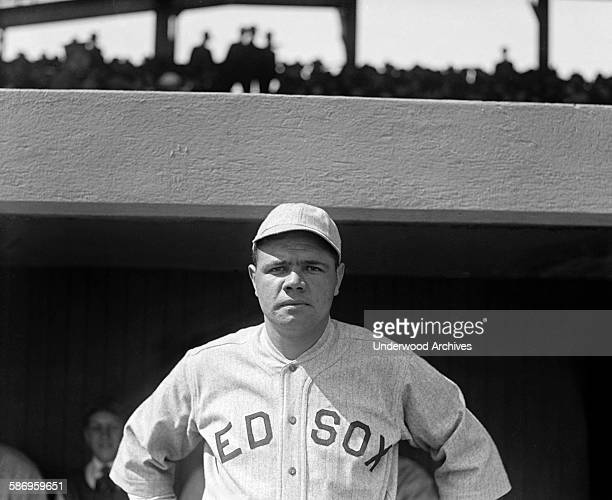 Baseball star Babe Ruth in his last year with the Boston Red Sox Boston Massachusetts 1919