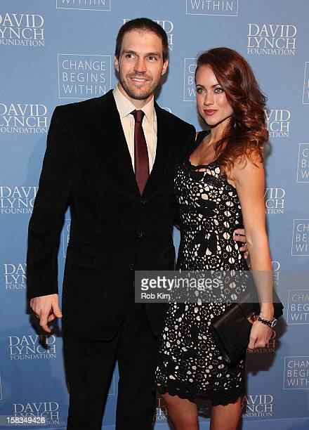Baseball star Barry Zito and wife Amber Zito attend An Intimate Night of Jazz hosted by The David Lynch Foundation at Frederick P Rose Hall Jazz at...