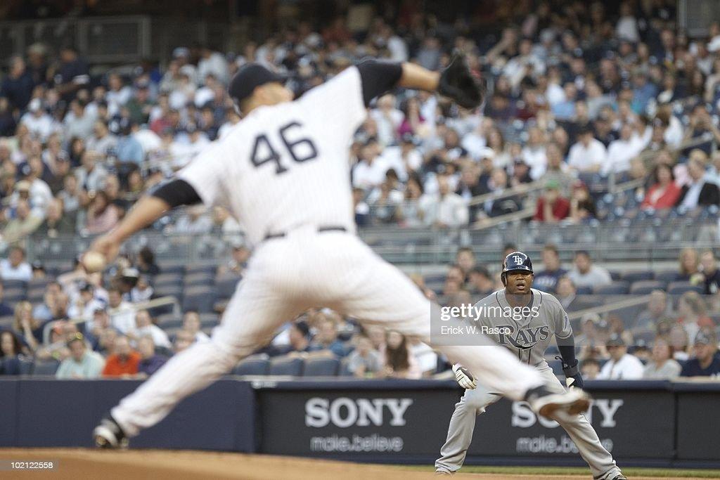 Tampa Bay Rays Carl Crawford (13) in action vs New York Yankees. Bronx, NY 5/20/2010