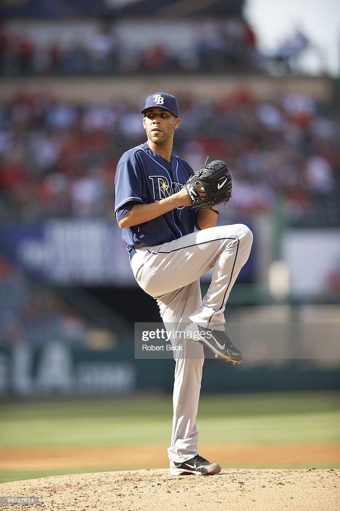 Tampa Bay Rays David Price (14) in action, pitching vs Los Angeles Angels of Anaheim. Anaheim, CA 5/12/2010
