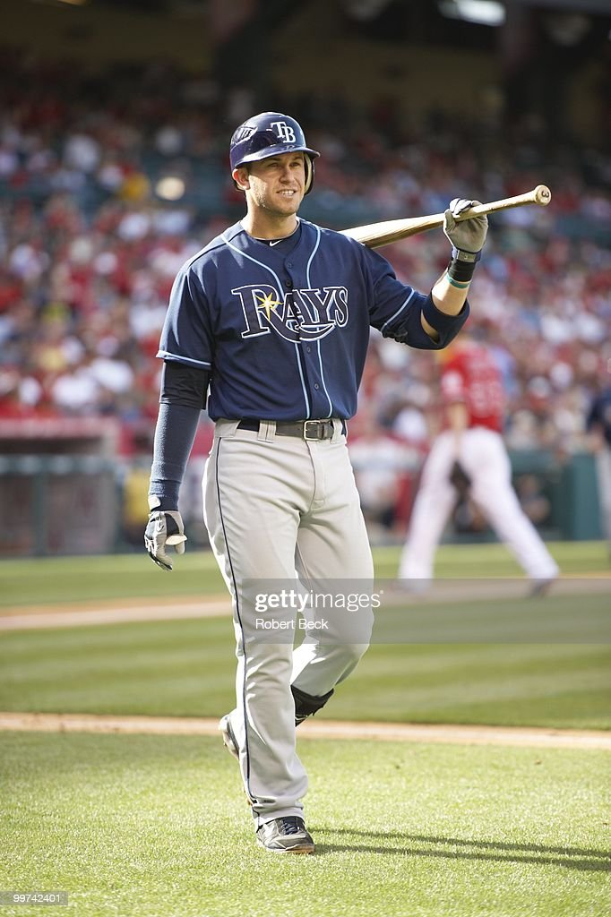 Tampa Bay Rays Evan Longoria (3) during game vs Los Angeles Angels of Anaheim. Anaheim, CA 5/12/2010