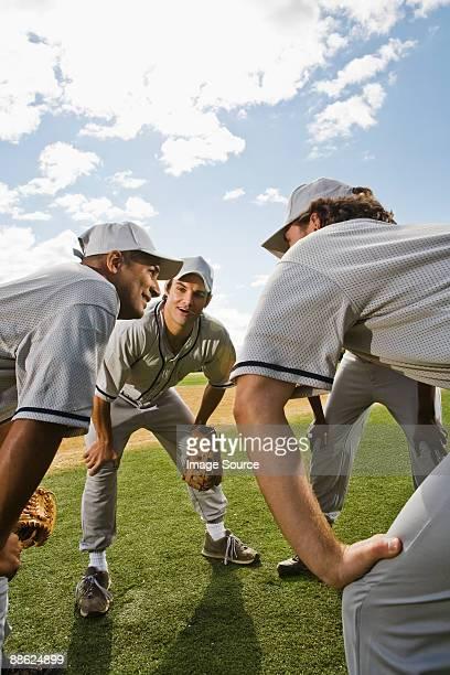 Baseball team face to face