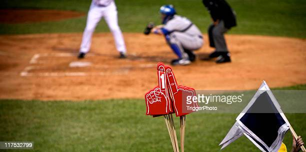 baseball team number one fan - baseball sport stock pictures, royalty-free photos & images