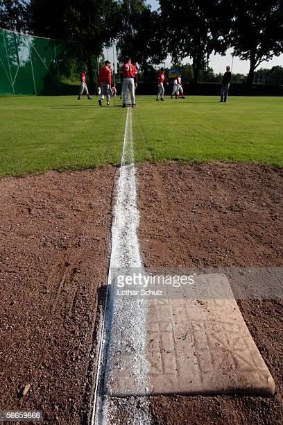 Baseball team on a field