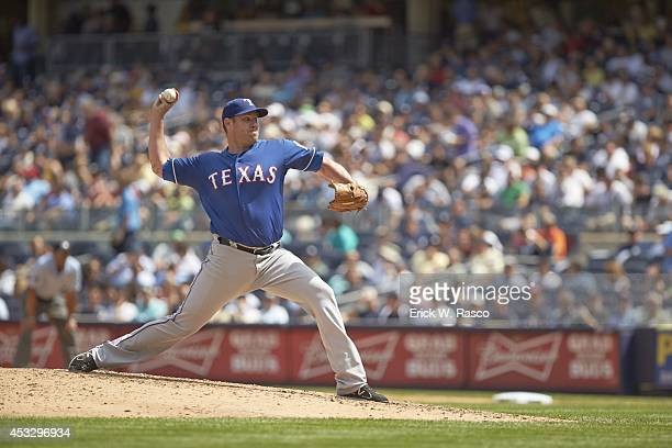 Texas Rangers Colby Lewis in action pitching vs New York Yankees at Yankee Stadium Bronx NY CREDIT Erick W Rasco