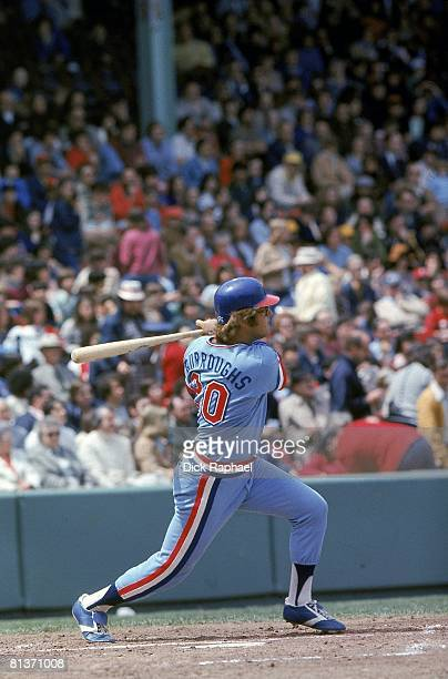 Baseball Texas Rangers Jeff Burroughs in action at bat vs Boston Red Sox Boston MA 5/8/1976