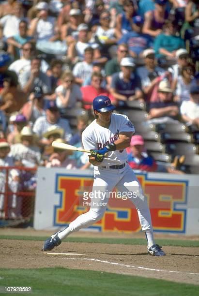 Texas Rangers Jose Canseco in action at bat vs Chicago White Sox at Arlington StadiumArlington TX 5/16/1993CREDIT Phil Huber