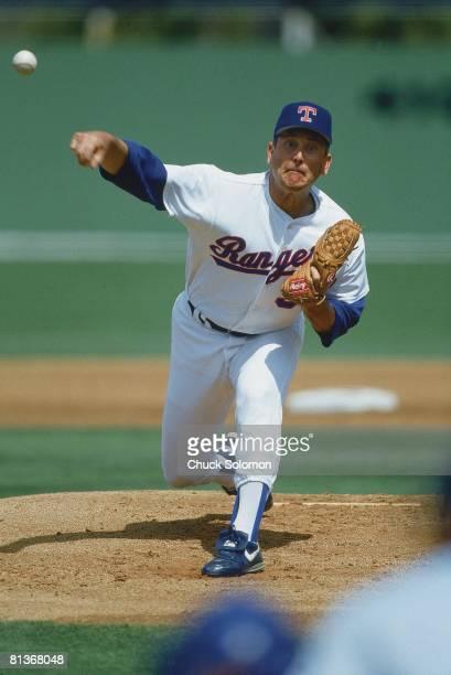 Baseball: Texas Rangers Nolan Ryan in action vs Pittsburgh Pirates during spring training, Port Charlotte, FL 3/23/1993