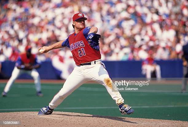 Toronto Blue Jays Roger Clemens in action pitching vs Montreal Expos First interleague series in Canada Toronto Canada 7/1/1997 CREDIT Chuck Solomon