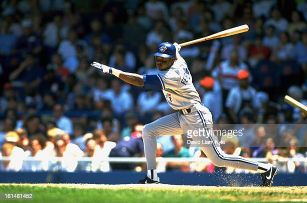 Toronto Blue Jays Tony Fernandez in action at bat vs Detroit Tigers at Tiger Stadium Detroit MI CREDIT David Liam Kyle
