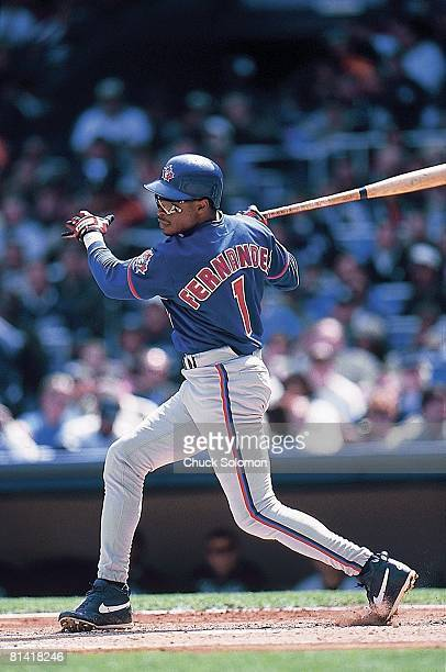 Baseball Toronto Blue Jays Tony Fernandez in action vs New York Yankees Bronx NY 4/25/1999