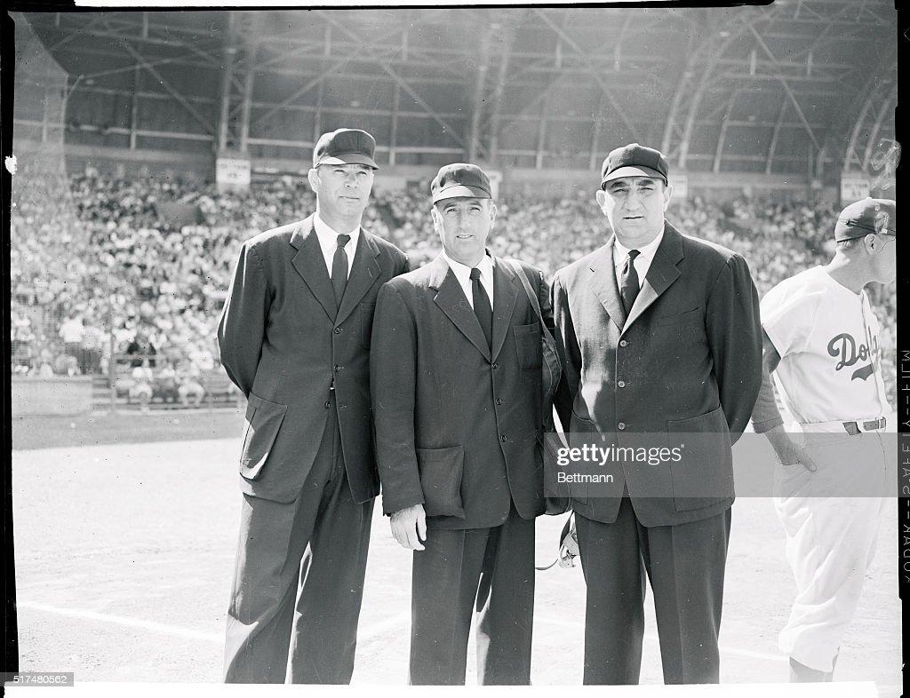 Portrait of Baseball Umpires : News Photo