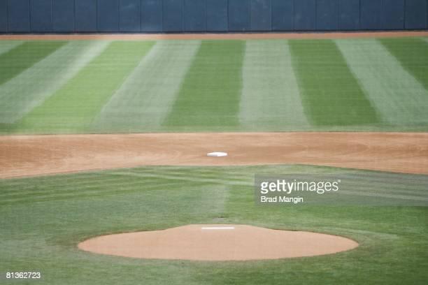 Baseball View of Peoria Stadium pitching mound and 2nd base before Arizona Diamondbacks vs San Diego Padres spring training game Peoria AZ 3/9/2006