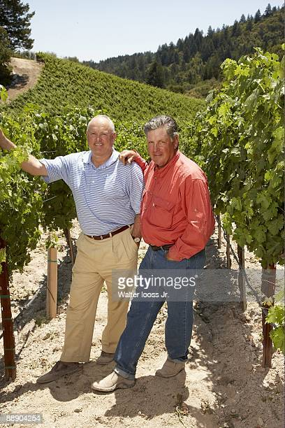 Where Are They Now Portrait of Hall of Famers and 1969 New York Mets players Nolan Ryan and Tom Seaver at GTS Vineyards on Diamond Mountain Seaver...