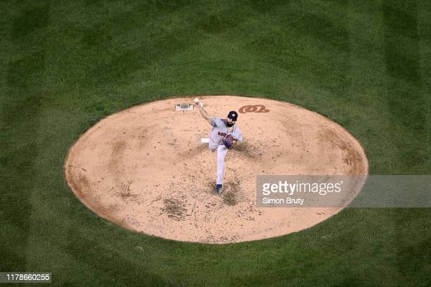 World Series Aerial view of Houston Astros Jose Urquidy in action pitching vs Washington Nationals at Nationals Park Game 4 Washington DC CREDIT...