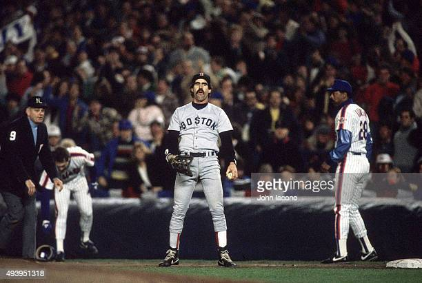 World Series Boston Red Sox Bill Buckner upset after safe call at first base vs New York Mets at Shea Stadium Game 6 Flushing NY CREDIT John Iacono