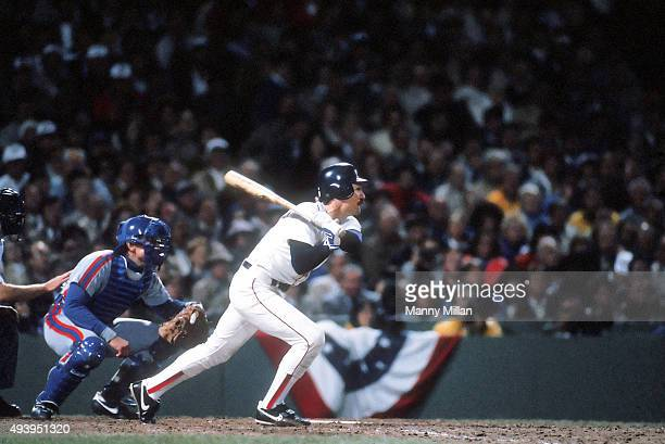 World Series Boston Red Sox Wade Boggs in action at bat vs New York Mets at Fenway Park Game 5 Boston MA CREDIT Manny Millan