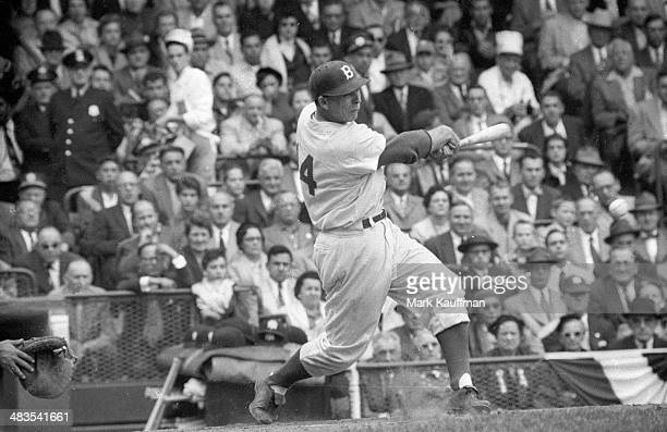 World Series Brooklyn Dodgers Gil Hodges in action at bat vs New York Yankees at Ebbets Field Game 3 Brooklyn NY CREDIT Mark Kauffman