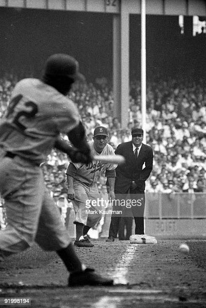 World Series Brooklyn Dodgers Jackie Robinson in action at bat vs New York Yankees Brooklyn NY 9/30/195510/2/1955 CREDIT Mark Kauffman