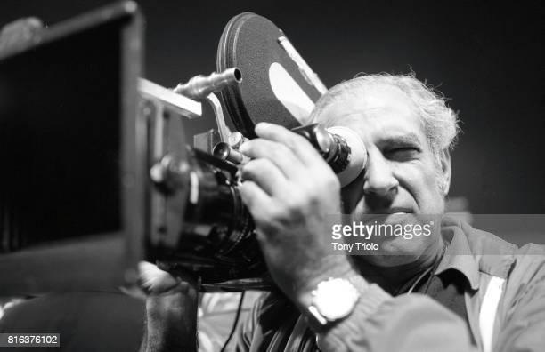 World Series Closeup of televison cameraman during Boston Red Sox vs Cincinnati Reds game at Fenway Park Game 2 Boston MA CREDIT Tony Triolo