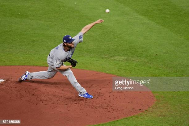 World Series Los Angeles Dodgers Clayton Kershaw in action pitching vs Houston Astors at Minute Maid Park Game 5 Houston TX CREDIT Greg Nelson